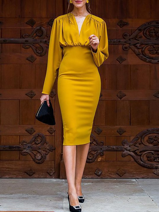 f6d44f8dc9 LOOK BOOK. 44797. Quick Shop · 23488. Quick Shop · 23488. Quick Shop ·  info. Quick Shop · YZL Studio Yellow Bodycon Sexy Midi Dress