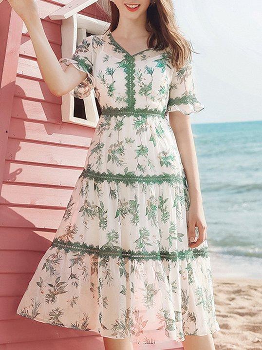 White Chiffon Holiday Dresses