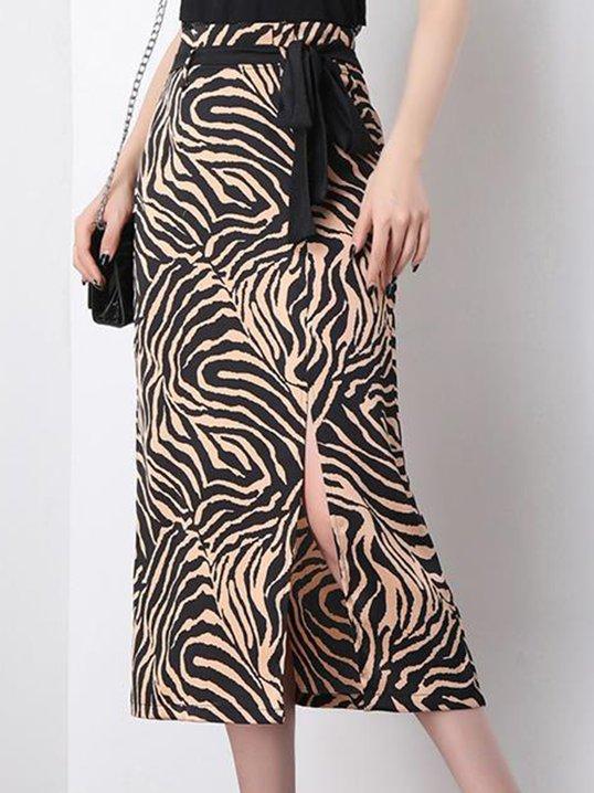 804fd29be Stylewe Solid 1 Women Midi Skirts Sheath Elegant Polyester Slit Black White Midi  Skirts