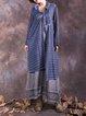 Shirt Collar Casual Long Sleeve Cotton Linen Dress