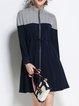 Plain Long Sleeve Stand Collar Simple Coat