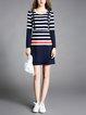 Paneled Simple Midi Dress