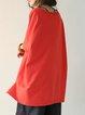 Half Sleeve Solid Casual Linen Top