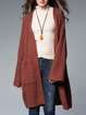 Solid Knitted Long Sleeve Casual Cardigan
