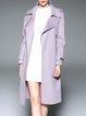 Lapel Simple Wool Solid Coat