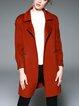 Long Sleeve Pockets Simple Wool Coat