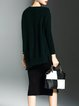Casual V Neck Knitted Batwing Sweater