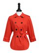 Solid Lapel Casual Bow 3/4 Sleeve Coat