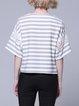 Crew Neck Lace Simple Paneled Short Sleeve T-Shirt