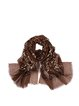 Brown Leopard Print Acrylic Casual Scarf