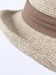 Camel Braided Resort Bowknot Hat