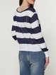 Stripes Long Sleeve Cotton Ripped Sweater