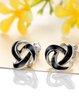 Black 925 Sterling Silver Geometry Earrings