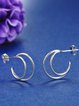 Silver Round 925 Sterling Silver Earrings