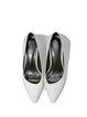 White Stiletto Heel Leather Office & Career Heels