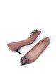 Pink Rhinestone Dress Stiletto Heel Ponited Toe Heels