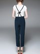 Solid H-line Casual Straight Leg Pants