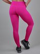 Pink Solid Breathable Leggings