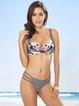 Multicolor Floral Print Bikini