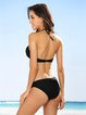 Push Up Halter Solid Bikini