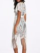 Open Front See-through Look Fringes Resort Coverup