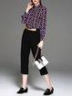 Multicolor Polka Dots Silk Long Sleeve Blouse