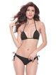 Black Halter Solid Bikini