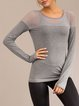 Breathable Mesh Paneled Sports T-shirt