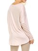 Casual Crew Neck Long Sleeve Plain Tunic
