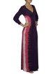 Color-block Casual Modal 3/4 Sleeve Maxi Dress