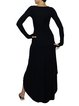 Black Casual Asymmetric Plain Maxi Dress