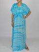 Aqua Blue Batwing A-line Maxi Dress