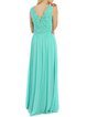 V Neck Swing Casual Sleeveless Guipure Lace Maxi Dress