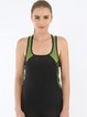 Black (Breathable) Tank Stretchy Top (Sportswear for Pilates)