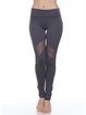 Black Polyester Natural Stretchy Leggings Bottom (Sportswear for Fitness)