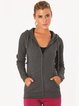 Deep Gray Hoodie Cotton Slightly Stretchy Hoodies (Sportswear for Fitness)