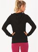 Black Cotton Ultraviolet Resistant Slightly Stretchy Hoodies(Sportswear for Tennis)