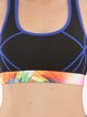 Black Nylon Stretchy Breathable Sports Bra (Sportswear for Yoga)