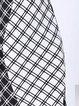 Black Crew Neck Elegant Cotton-blend Midi Dress