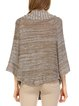Brown Batwing Knitted Gradient H-line Poncho
