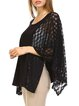 Black Crocheted Resort Poncho