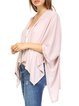 Pink Knitted Crocheted Resort Plain Cardigan