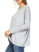 Long Sleeve Resort Crew Neck Rayon Tunic
