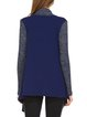 Navy Blue Color-block Long Sleeve Asymmetrical Cardigan