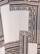 White Geometric Asymmetric Printed Spaghetti Boho Tanks