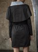 Black Statement Turtleneck H-line Coat with Belt