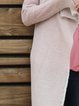 Pink Asymmetrical Knitted Casual Cardigan