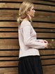 H-line Casual Long Sleeve Knitted Paneled Sweater