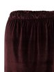 Brown H-line Velvet Casual Mini Skirt