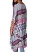 Fuchsia Viscose Tribal Printed Half Sleeve Kimono